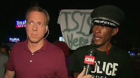 Screenshot from CNN footage