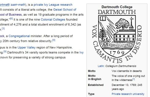 http://en.wikipedia.org/wiki/Dartmouth_College